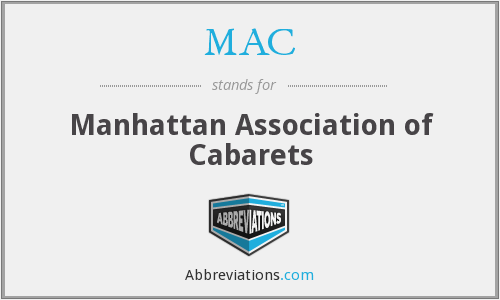 MAC - Manhattan Association of Cabarets