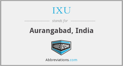 IXU - Aurangabad, India