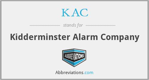 KAC - Kidderminster Alarm Company