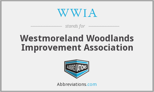 WWIA - Westmoreland Woodlands Improvement Association