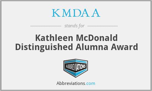 KMDAA - Kathleen McDonald Distinguished Alumna Award