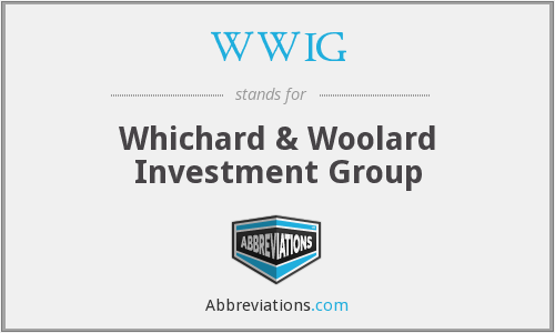 WWIG - Whichard & Woolard Investment Group