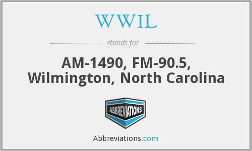 WWIL - AM-1490, FM-90.5, Wilmington, North Carolina