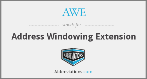 AWE - Address Windowing Extension