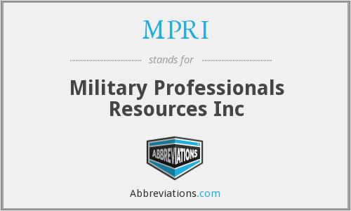What does MPRI stand for?