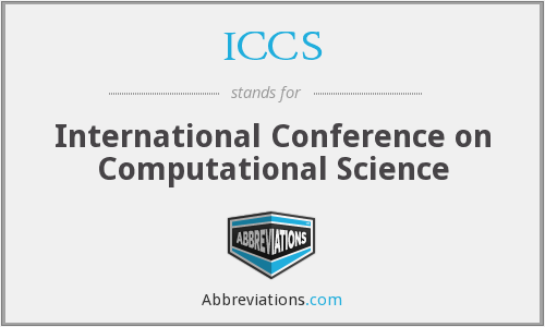 ICCS - International Conference on Computational Science
