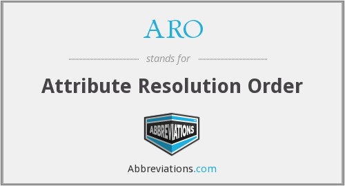 ARO - Attribute Resolution Order