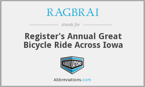 RAGBRAI - Register's Annual Great Bicycle Ride Across Iowa