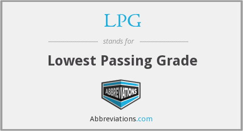 LPG - Lowest Passing Grade