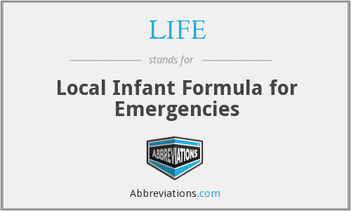 LIFE - Local Infant Formula for Emergencies