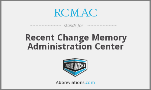 RCMAC - Recent Change Memory Administration Center