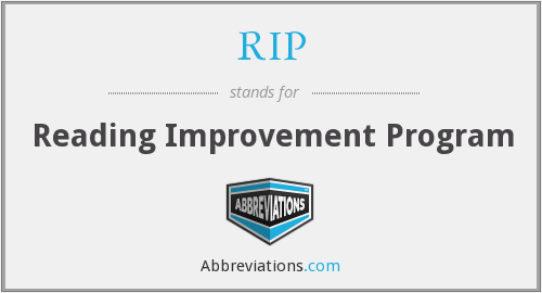 RIP - Reading Improvement Program