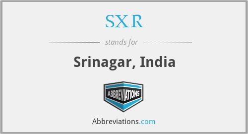 SXR - Srinagar, India