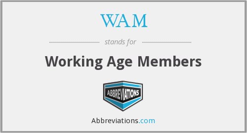 WAM - Working Age Members