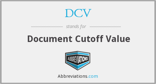 DCV - Document Cutoff Value