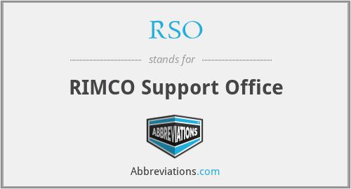 RSO - RIMCO Support Office