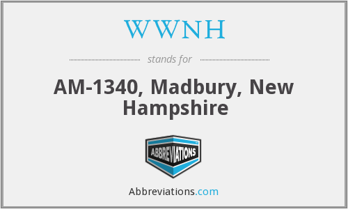 WWNH - AM-1340, Madbury, New Hampshire