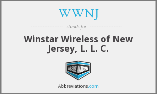 WWNJ - Winstar Wireless of New Jersey, L. L. C.