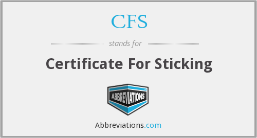 What does sticking stand for?