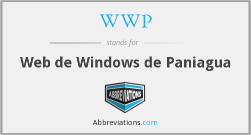 WWP - Web de Windows de Paniagua