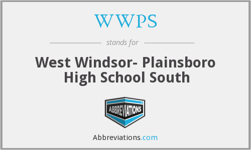 WWPS - West Windsor- Plainsboro High School South
