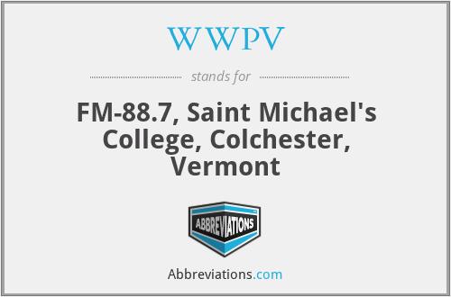 WWPV - FM-88.7, Saint Michael's College, Colchester, Vermont