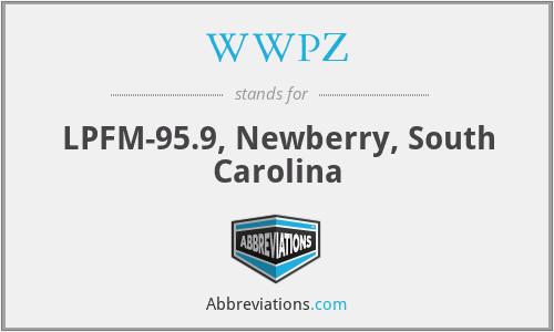 WWPZ - LPFM-95.9, Newberry, South Carolina