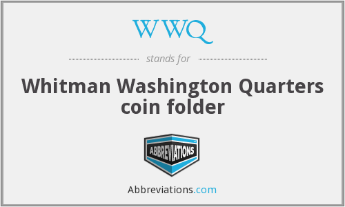 WWQ - Whitman Washington Quarters coin folder
