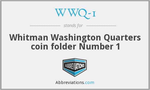 WWQ-1 - Whitman Washington Quarters coin folder Number 1