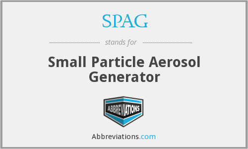 SPAG - Small Particle Aerosol Generator