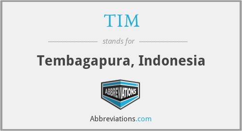 TIM - Tembagapura, Indonesia