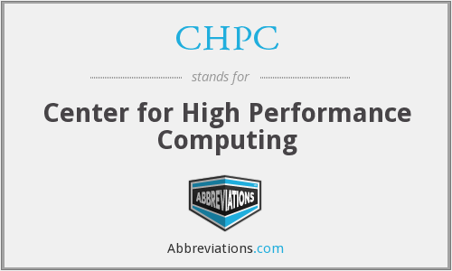 What does CHPC stand for?