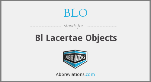 BLO - Bl Lacertae Objects