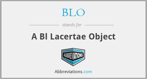 BLO - A Bl Lacertae Object