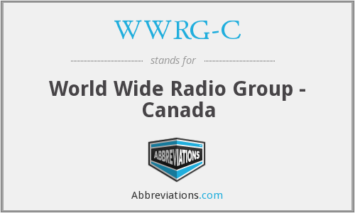 What does WWRG-C stand for?