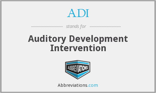 ADI - Auditory Development Intervention