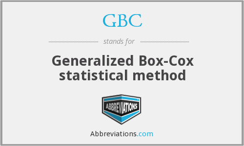 GBC - Generalized Box-Cox statistical method