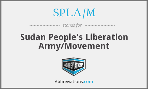 What does SPLA/M stand for?