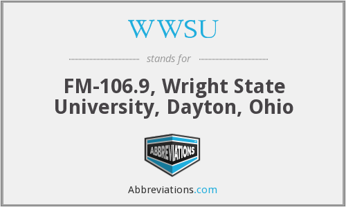 WWSU - FM-106.9, Wright State University, Dayton, Ohio