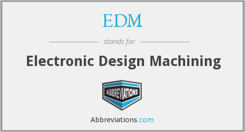 EDM - Electronic Design Machining