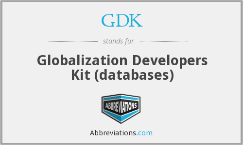 GDK - Globalization Developers Kit (databases)