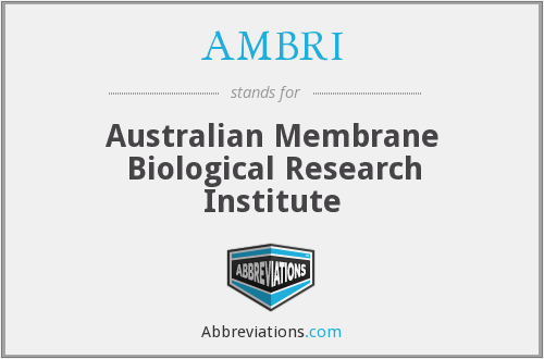 AMBRI - Australian Membrane Biological Research Institute