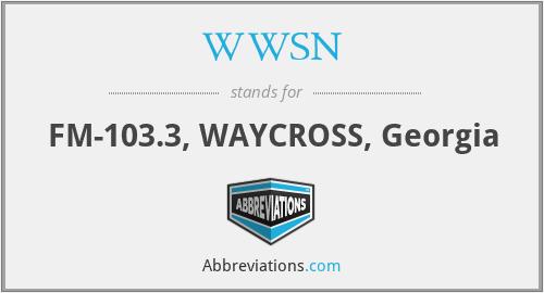 WWSN - FM-103.3, WAYCROSS, Georgia