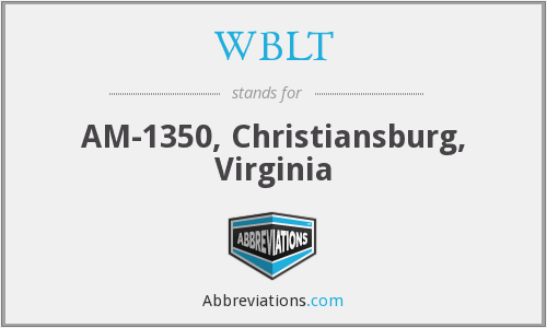 WBLT - AM-1350, Christiansburg, Virginia