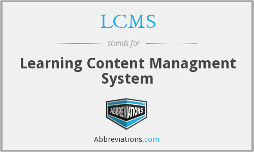 LCMS - Learning Content Managment System