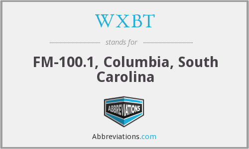 WXBT - FM-100.1, Columbia, South Carolina