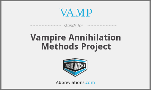 VAMP - Vampire Annihilation Methods Project