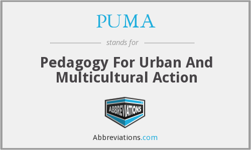 PUMA - Pedagogy For Urban And Multicultural Action
