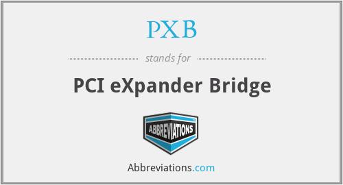 PXB - PCI eXpander Bridge