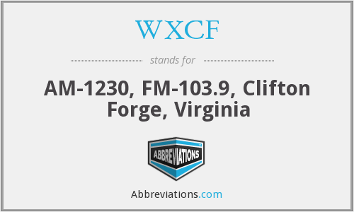 WXCF - AM-1230, FM-103.9, Clifton Forge, Virginia